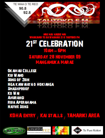 Heres the Poster for Tautoko FMs 21st Birthday